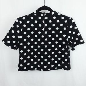 Forever 21 Tops - Retro Mod Polka Dot Shirt